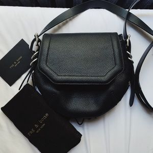 new black leather cross body bag!